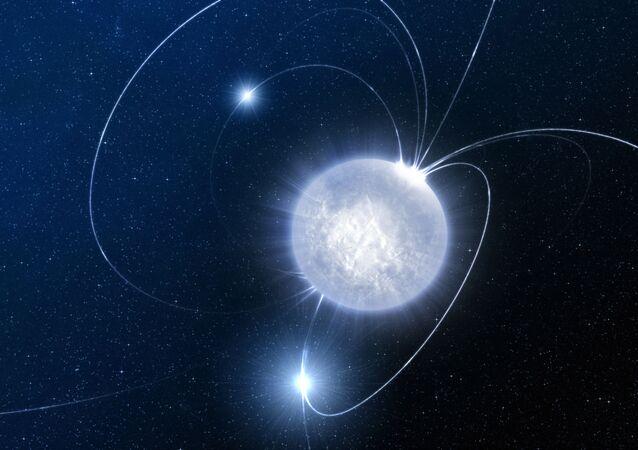 Un magnetar (ilustración)