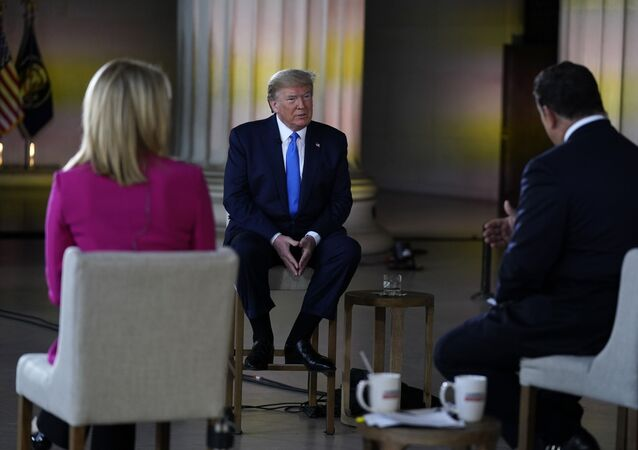 Donald Trump, presidente de EEUU, durante un foro televisado por Fox News Channel en Washington (EEUU), el 3 de mayo de 2020