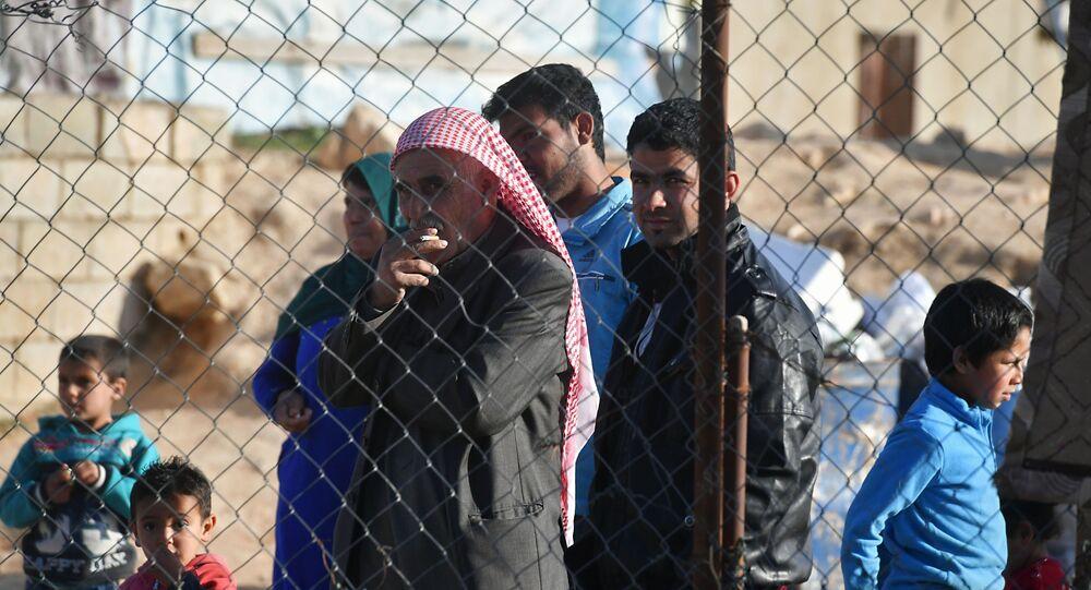 Un campo de refugiados sirios en El Líbano