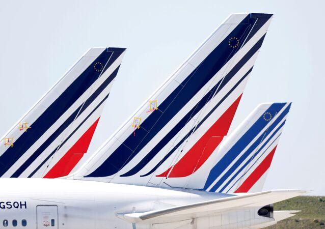 Aviones de la aerolínea francesa Air France