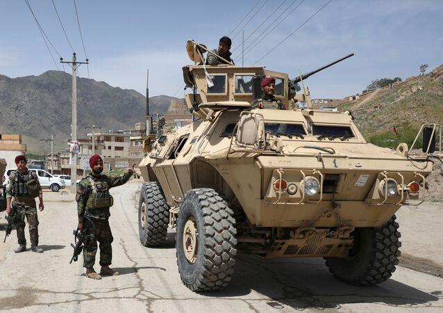 Militares del Ejército Nacional Afgano