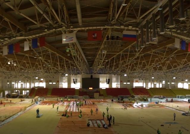 Moscú convierte un palacio de deportes en hospital por la pandemia