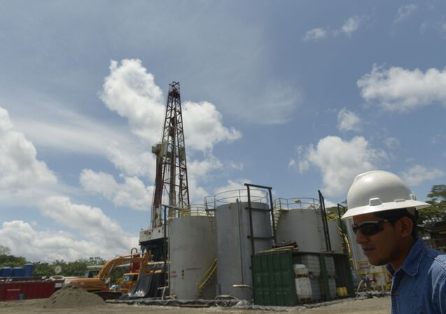 Instalación de Petroamazonas en Tiputini, Ecuador