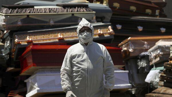 Crematorio de Xochimilco (México) durante la pandemia de coronavirus - Sputnik Mundo