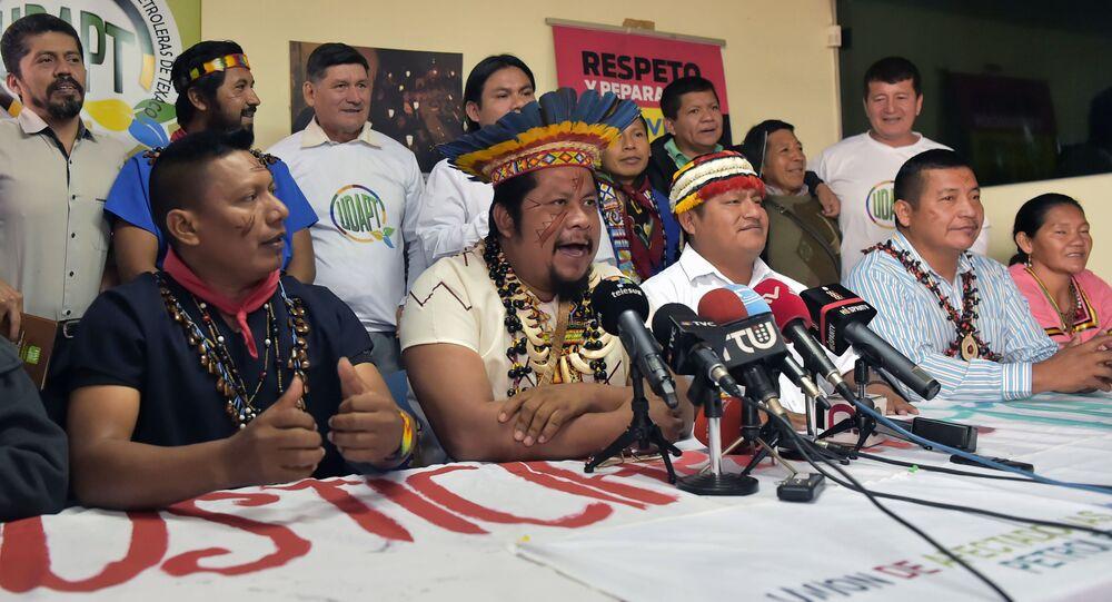 Indígenas Siekopai de la Amazonía ecuatoriana