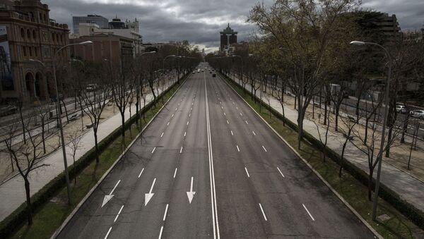 El Paseo de la Castellana en Madrid - Sputnik Mundo