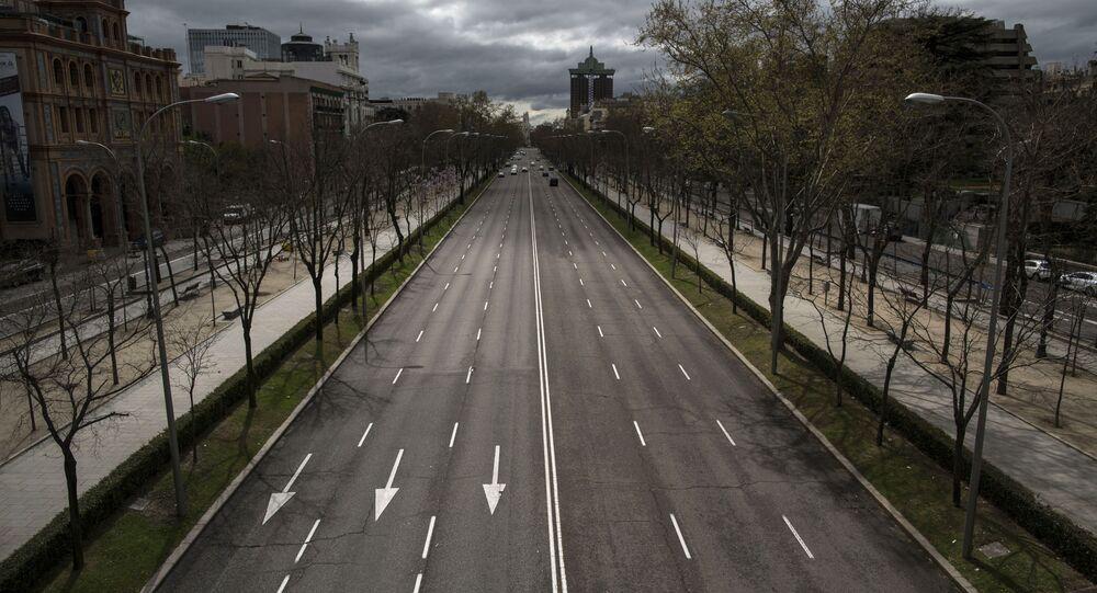 El Paseo de la Castellana en Madrid