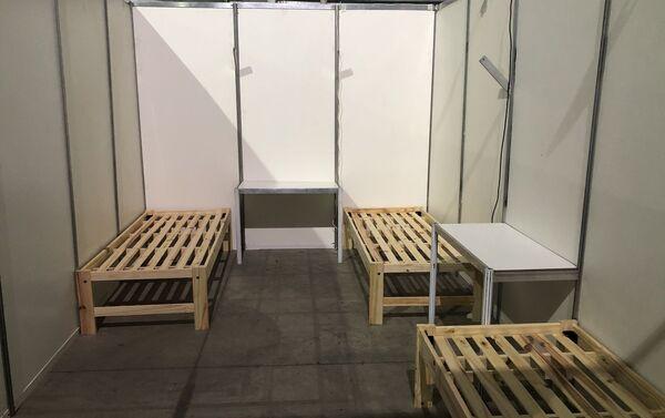 Las habitaciones modulares albergan entre tres y cuatro camas no hospitalarias - Sputnik Mundo