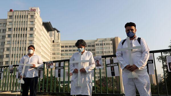 El personal médico en Brasil durante la epidemia de coronavirus - Sputnik Mundo