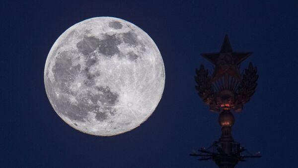 La Luna vista desde Moscú (archivo) - Sputnik Mundo