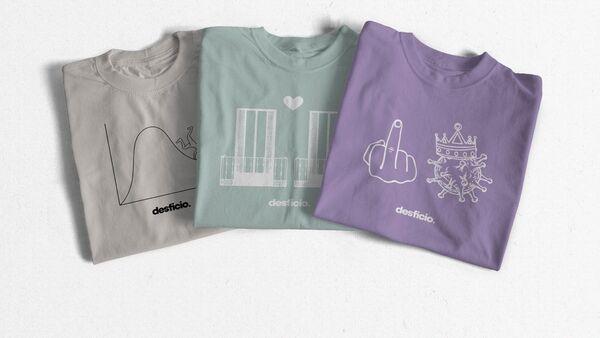 Camisetas solidarias contra el coronavirus de Desficio - Sputnik Mundo