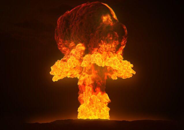 Una explosión de una bomba nuclear (imagen referencial)