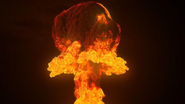 Una explosión de una bomba nuclear (imagen referencial) - Sputnik Mundo