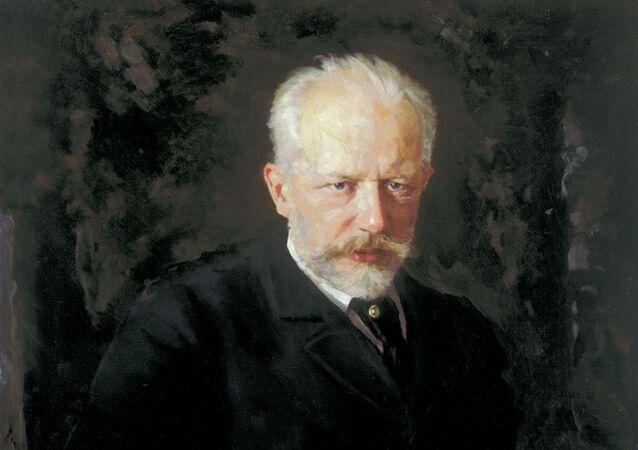 El retrato de Piotr Ilich Chaikovski