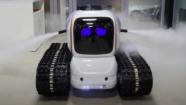 Robot desinfectante de la empresa rusa Avrora Robotics - Sputnik Mundo
