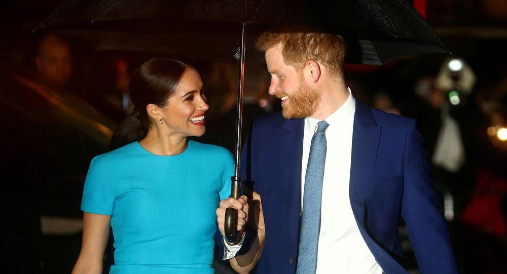 El príncipe Harry y su esposa, Meghan (archivo)