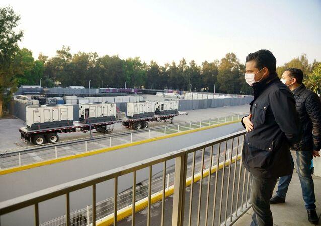 Transformación del autódromo de Fórmula 1 en Ciudad de México en un hospital para atender a los pacientes con COVID-19