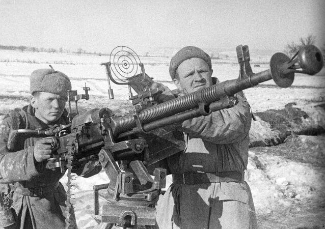 Los efectivos de la defensa antiaérea soviética durante la Segunda Guerra Mundial