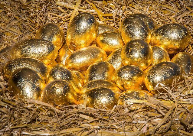 Los huevos dorados (imagen referencial)