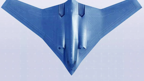 El bombardero chino Xian H-20 (ilustración artística) - Sputnik Mundo