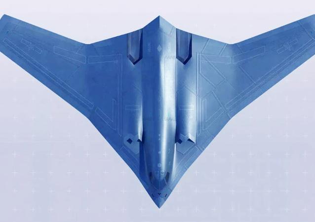 El bombardero chino Xian H-20 (ilustración artística)