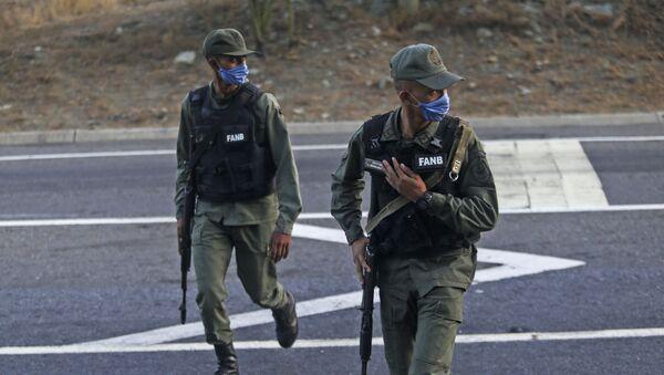 Agentes de la Guardia Nacional Bolivariana de Venezuela  - Sputnik Mundo