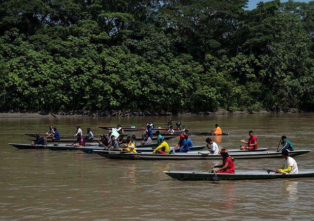 Los indígenas de la etnia Siekopai en la Amazonía ecuatoriana