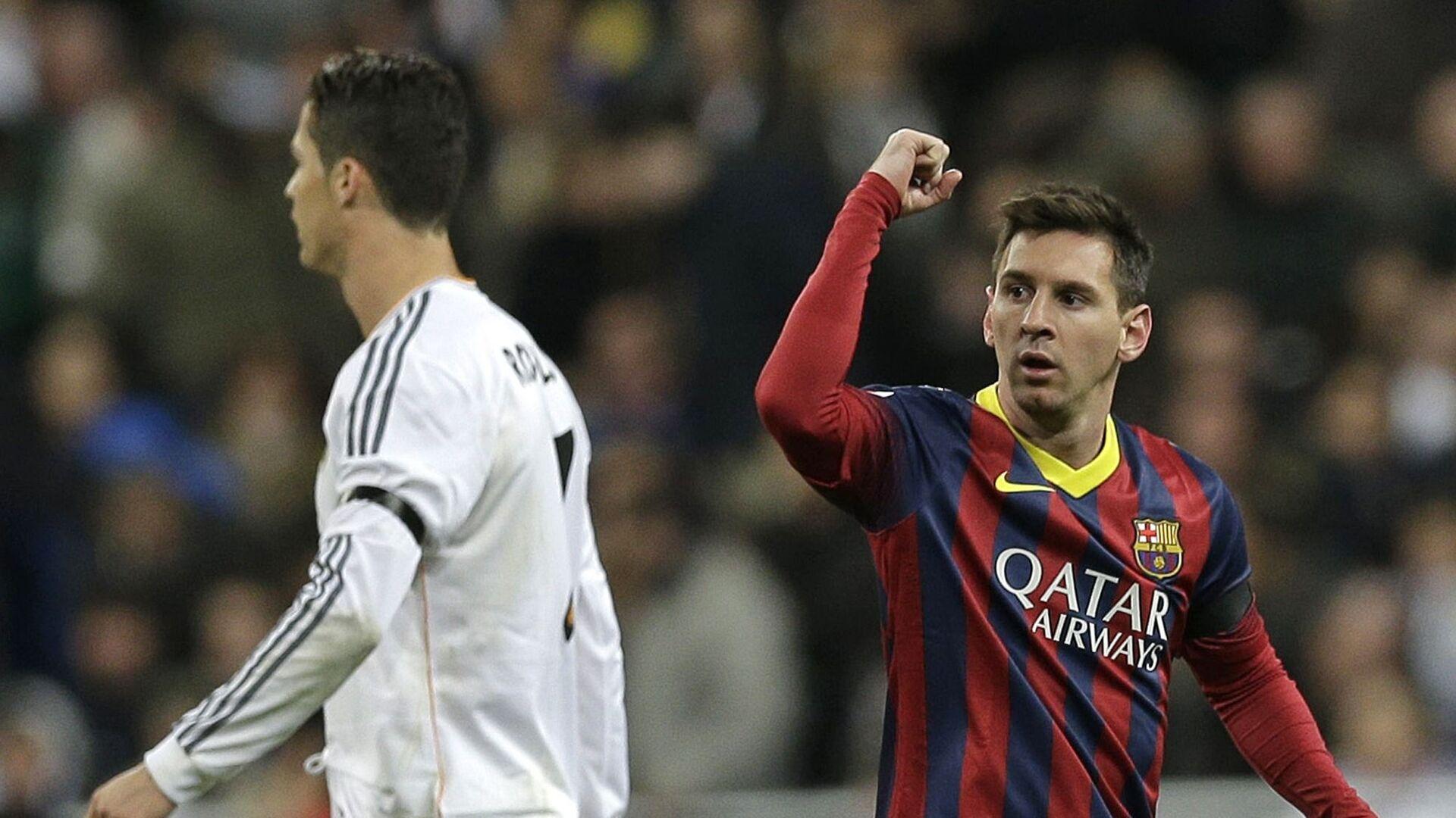 El delantero portugués Cristiano Ronaldo y su colega argentino Lionel Messi - Sputnik Mundo, 1920, 12.04.2021