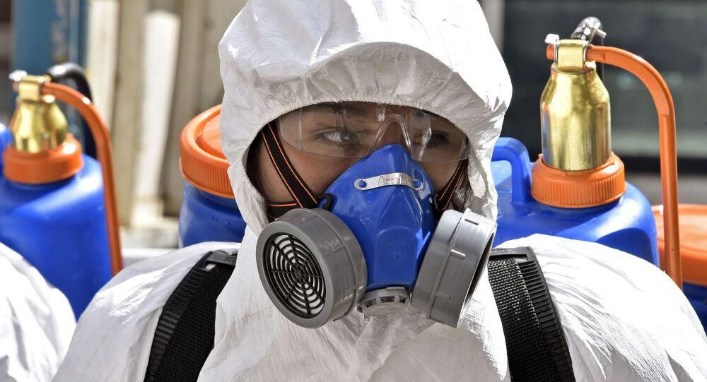 Desinfección de las calles de La Paz, Bolivia