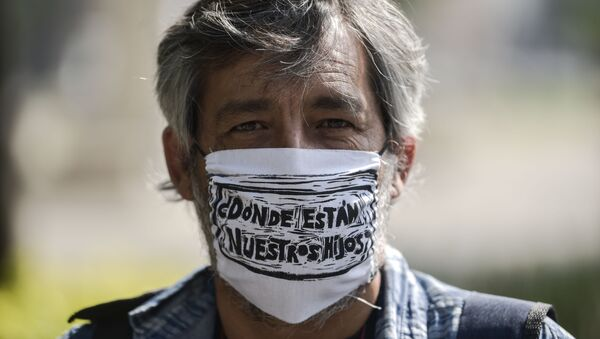 Protesta contra la desaparición forzosa en México - Sputnik Mundo