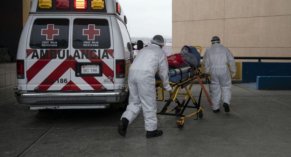 Una ambulancia en Tijuana, México