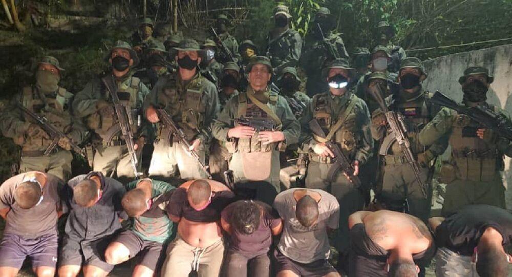 Mercenarios capturados en La Guaira, Venezuela