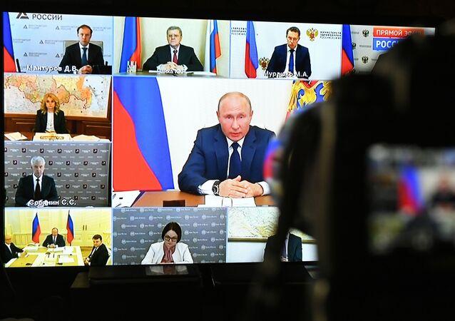 La rueda de prensa del presidente de Rusia, Vládimir Putin