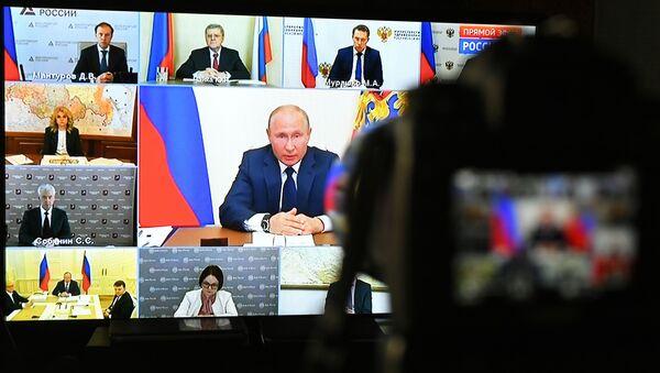 La rueda de prensa del presidente de Rusia, Vládimir Putin - Sputnik Mundo