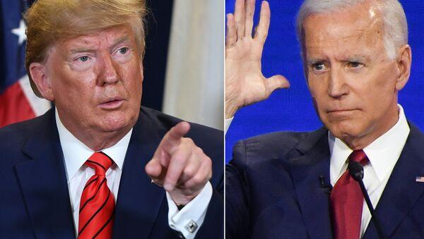 El presidente de EEUU, Donald Trump, y Joe Biden, su probable rival demócrata en los comicios - Sputnik Mundo