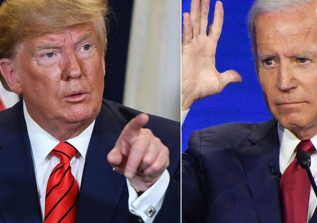 El presidente de EEUU, Donald Trump, y Joe Biden, su probable rival demócrata en los comicios