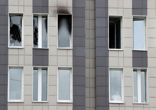 El incendio en el hospital de San Jorge en San Petersburgo