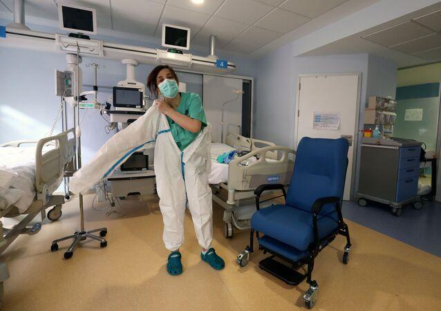 Una enfermera española (imagen referencial)