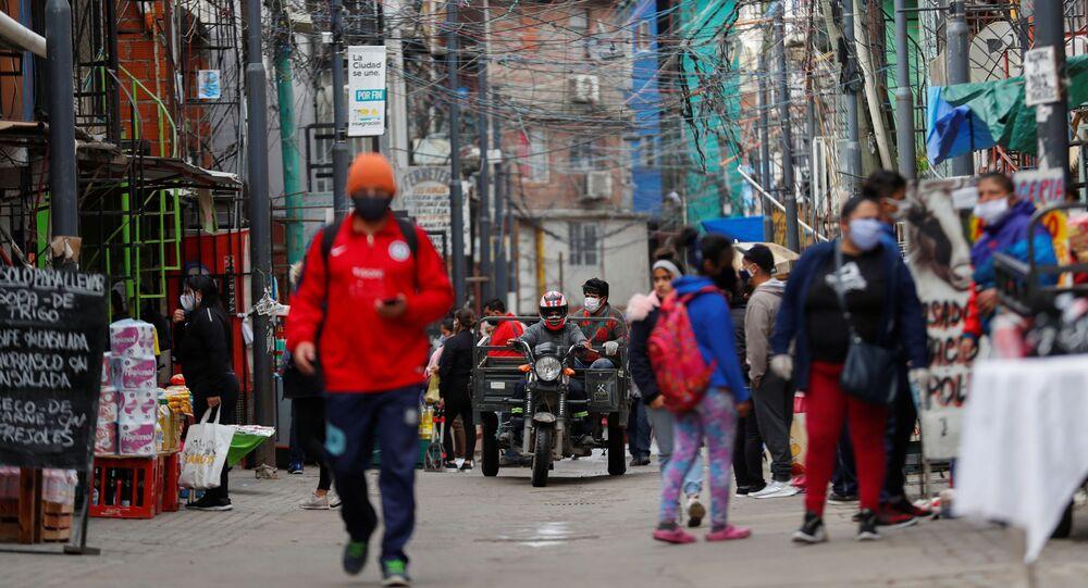 Calles de Buenos Aires durante la pandemia de coronavirus