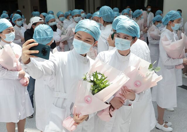 Médicas de Wuhan, China