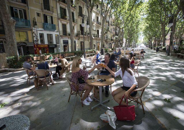 Terraza abierta en Palma de Mallorca
