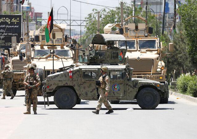 Fuerzas de Seguridad afganos en Kabul