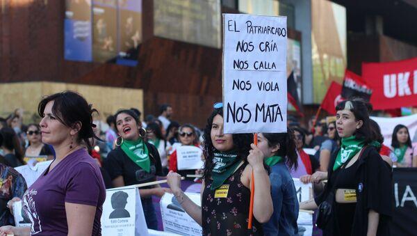 Protesta contra violencia de género en Chile - Sputnik Mundo