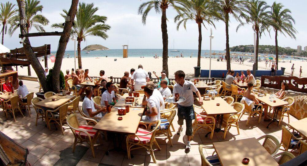 Una playa de Mallorca, España (archivo)