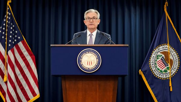 Jerome Powell, jefe de la Reserva Federal de EEUU - Sputnik Mundo