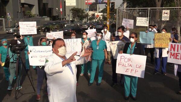 Los médicos peruanos protestan por la falta de equipos médicos - Sputnik Mundo