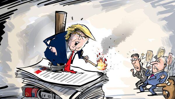 Trump amenaza con romper las relaciones con China - Sputnik Mundo
