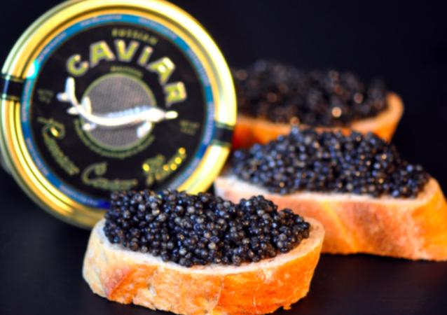 El caviar negro ruso