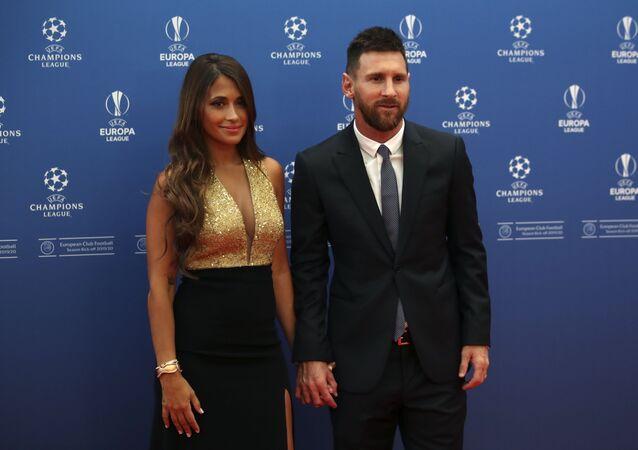 Lionel Messi y su esposa Antonella Roccuzzo