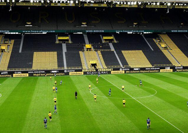 Partido entre Dortmund y Schalke de la Bundeliga, Alemania